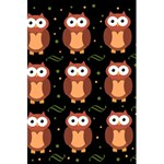Halloween brown owls  5.5  x 8.5  Notebooks Back Cover