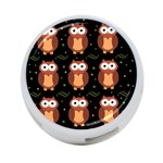 Halloween brown owls  4-Port USB Hub (One Side)