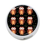 Halloween brown owls  4-Port USB Hub (Two Sides)