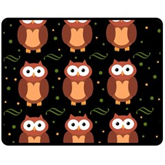 Halloween brown owls  Fleece Blanket (Medium)