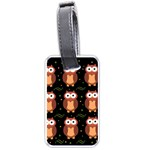 Halloween brown owls  Luggage Tags (Two Sides)