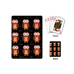Halloween brown owls  Playing Cards (Mini)