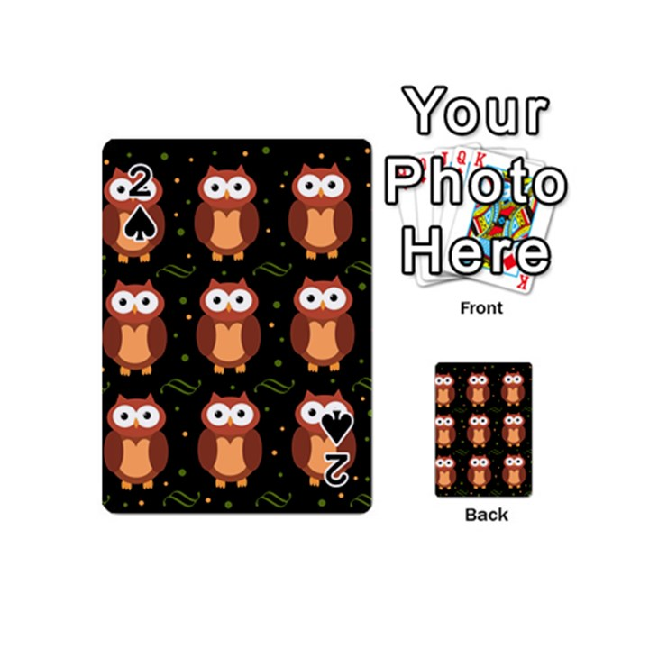 Halloween brown owls  Playing Cards 54 (Mini)
