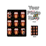 Halloween brown owls  Playing Cards 54 (Mini)  Front - Spade4
