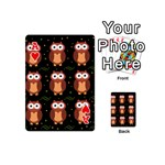 Halloween brown owls  Playing Cards 54 (Mini)  Front - HeartA