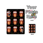 Halloween brown owls  Playing Cards 54 (Mini)  Front - Club3