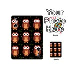 Halloween brown owls  Playing Cards 54 (Mini)  Front - Club7
