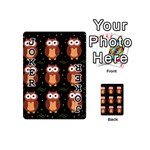 Halloween brown owls  Playing Cards 54 (Mini)  Front - Joker1