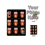 Halloween brown owls  Playing Cards 54 (Mini)  Front - Spade10