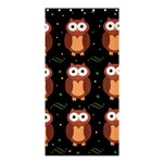 Halloween brown owls  Shower Curtain 36  x 72  (Stall)