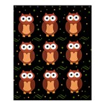 Halloween brown owls  Shower Curtain 60  x 72  (Medium)