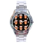 Halloween brown owls  Stainless Steel Analogue Watch