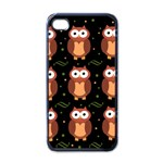 Halloween brown owls  Apple iPhone 4 Case (Black)