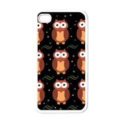 Halloween Brown Owls  Apple Iphone 4 Case (white) by Valentinaart