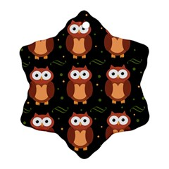Halloween brown owls  Snowflake Ornament (2-Side)