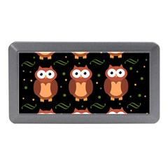 Halloween brown owls  Memory Card Reader (Mini)