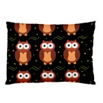 Halloween brown owls  Pillow Case (Two Sides)