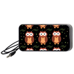 Halloween brown owls  Portable Speaker (Black)