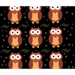 Halloween brown owls  Deluxe Canvas 14  x 11  14  x 11  x 1.5  Stretched Canvas