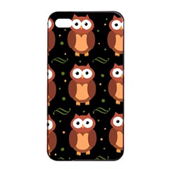 Halloween Brown Owls  Apple Iphone 4/4s Seamless Case (black) by Valentinaart