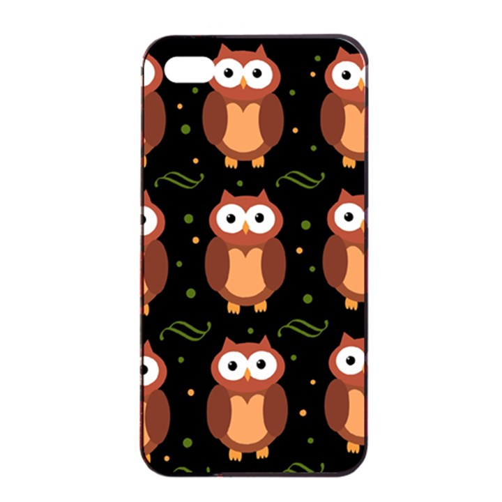 Halloween brown owls  Apple iPhone 4/4s Seamless Case (Black)