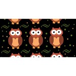 Halloween brown owls  Twin Heart Bottom 3D Greeting Card (8x4) Front
