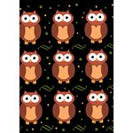 Halloween brown owls  Circle 3D Greeting Card (7x5) Inside