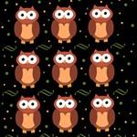 Halloween brown owls  BELIEVE 3D Greeting Card (8x4) Inside