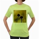 Withered Globe Thistle In Autumn Macro Women s Green T-Shirt