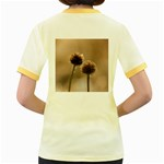 Withered Globe Thistle In Autumn Macro Women s Fitted Ringer T-Shirts Back