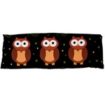Halloween brown owls  Body Pillow Case (Dakimakura)