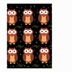 Halloween brown owls  Small Garden Flag (Two Sides) Back