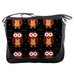 Halloween brown owls  Messenger Bags