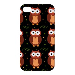 Halloween Brown Owls  Apple Iphone 4/4s Premium Hardshell Case by Valentinaart