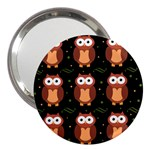 Halloween brown owls  3  Handbag Mirrors