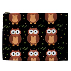Halloween Brown Owls  Cosmetic Bag (xxl)
