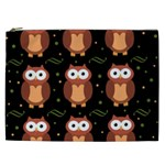 Halloween brown owls  Cosmetic Bag (XXL)  Front