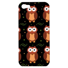 Halloween brown owls  Apple iPhone 5 Hardshell Case