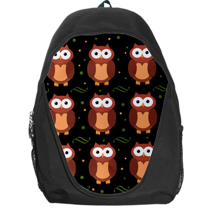 Halloween brown owls  Backpack Bag