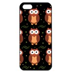 Halloween brown owls  Apple iPhone 5 Seamless Case (Black)
