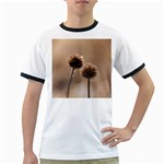Withered Globe Thistle In Autumn Macro Ringer T-Shirts