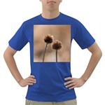 Withered Globe Thistle In Autumn Macro Dark T-Shirt