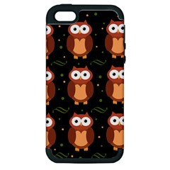 Halloween brown owls  Apple iPhone 5 Hardshell Case (PC+Silicone)