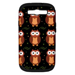 Halloween brown owls  Samsung Galaxy S III Hardshell Case (PC+Silicone)