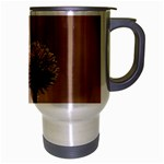 Withered Globe Thistle In Autumn Macro Travel Mug (Silver Gray) Right