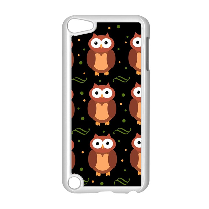 Halloween brown owls  Apple iPod Touch 5 Case (White)