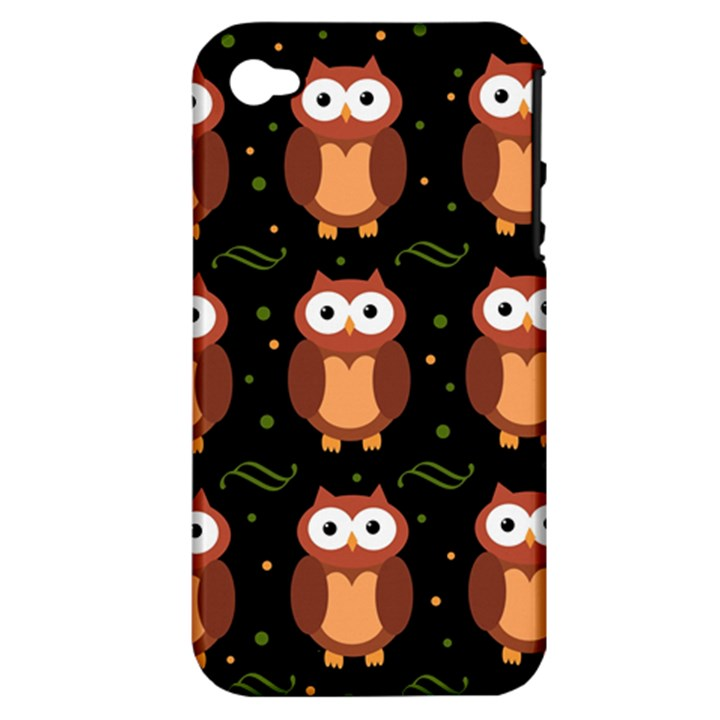 Halloween brown owls  Apple iPhone 4/4S Hardshell Case (PC+Silicone)