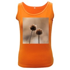 Withered Globe Thistle In Autumn Macro Women s Dark Tank Top