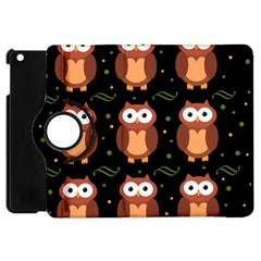 Halloween Brown Owls  Apple Ipad Mini Flip 360 Case by Valentinaart