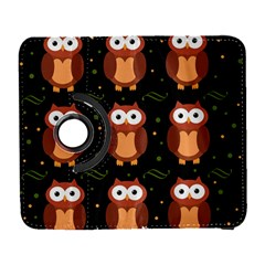 Halloween brown owls  Samsung Galaxy S  III Flip 360 Case